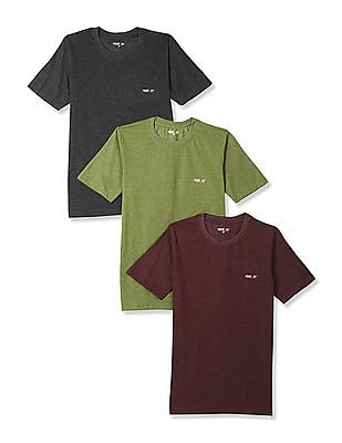 Newport Crew Neck Solid T-Shirt - Pack Of 3