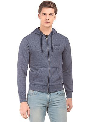 Flying Machine Heathered Zip Up Sweatshirt
