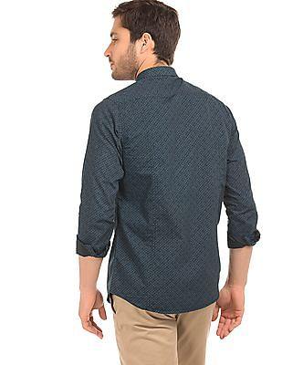 Excalibur Super Slim Fit Printed Shirt