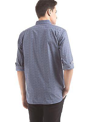 Nautica Printed Regular Fit Popover Shirt