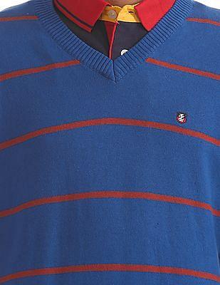 Izod Long Sleeve Striped Sweater