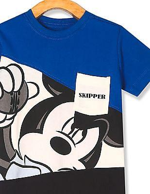 Colt Multi Colour Boys Mickey Mouse Print Crew Neck T-Shirt
