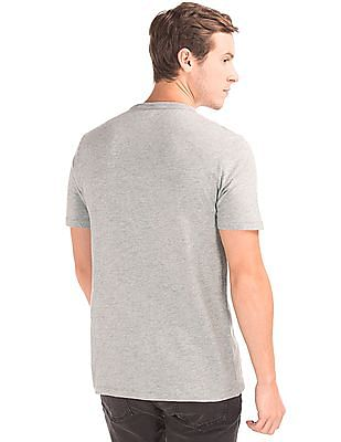 GAP Appliqued Front Heathered T-Shirt