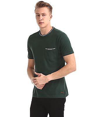 Cherokee Green Slim Fit Crew Neck T-Shirt