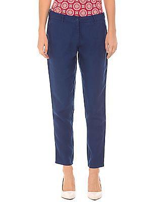 U.S. Polo Assn. Women Skinny Fit Linen Trousers