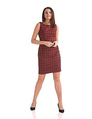 Arrow Woman Patterned Weave Sheath Dress