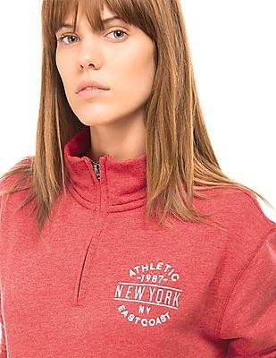 Aeropostale Quarter Zip Popover Sweatshirt