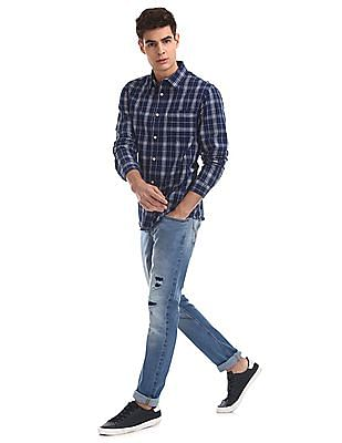 Cherokee Blue Slim Fit Distressed Jeans