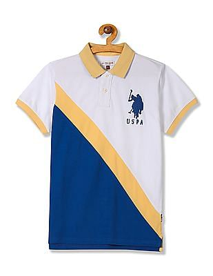 U.S. Polo Assn. Kids Boys Colour Blocked Polo Shirt