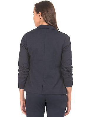 U.S. Polo Assn. Women Single Breasted Patterned Blazer