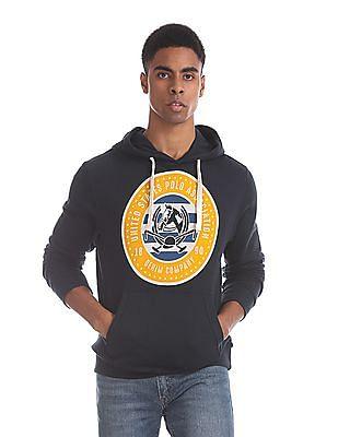 U.S. Polo Assn. Blue Kangaroo Pocket Hooded Sweatshirt