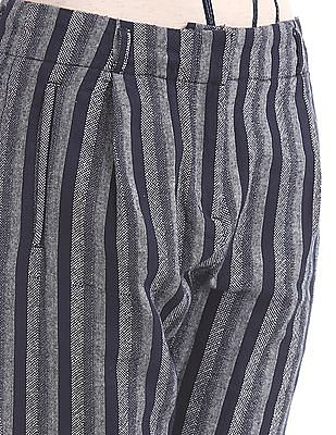 Elle Slim Fit Striped Weave Trousers