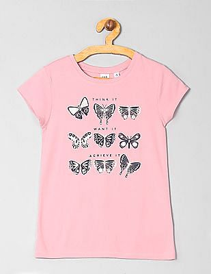 GAP Girls Crew Neck Graphic T-Shirt