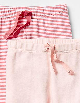 GAP Baby Pink Banded Pants (2-Pack)