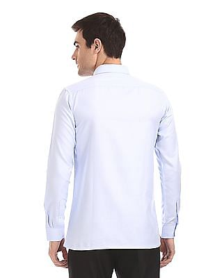 Excalibur Long Sleeve Patterned Weave Shirt - Pack Of 2