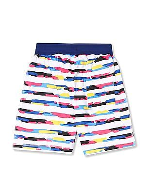 Colt Boys Contrast Waist Printed Shorts
