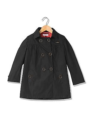 U.S. Polo Assn. Kids Girls Double Breasted Hooded Jacket