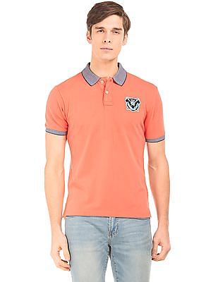 Aeropostale Textured Trim Regular Fit Polo Shirt