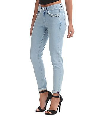 EdHardy Women Super Skinny Washed Jeans