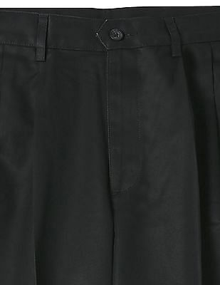 Arrow Sports Regular Fit Solid Trousers