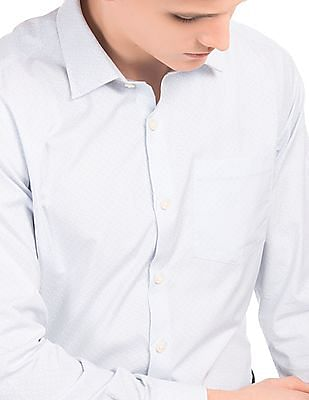 Arrow NFC Chip Enabled Striped Smart Shirt