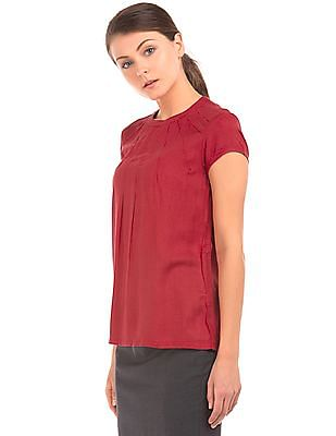 Arrow Woman Inverted Pleat Striped Top