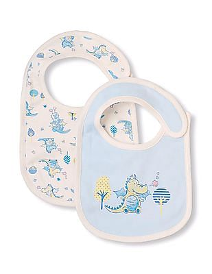 The Children's Place Baby Printed Bibs- Pack Of 2