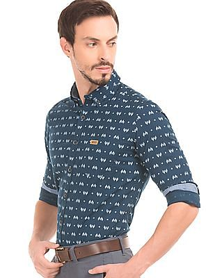 U.S. Polo Assn. Denim Co. Printed Slim Fit Shirt