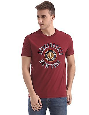 Aeropostale Embroidered Front Round Neck T-Shirt