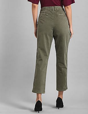 GAP Green Girlfriend Chinos With Side Stripe In Twill