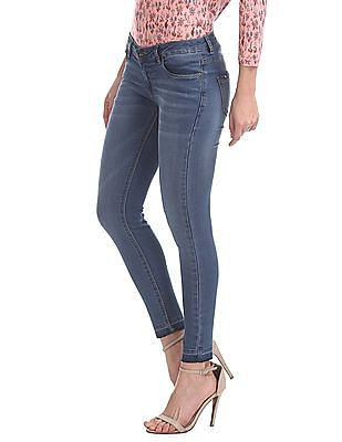 SUGR Regular Fit Stone Washed Jeans