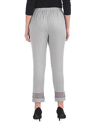 Karigari Lace Panel Woven Pants