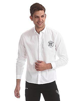 Colt White Cutaway Collar Solid Shirt
