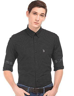 U.S. Polo Assn. Pinstriped Tailored Fit Shirt