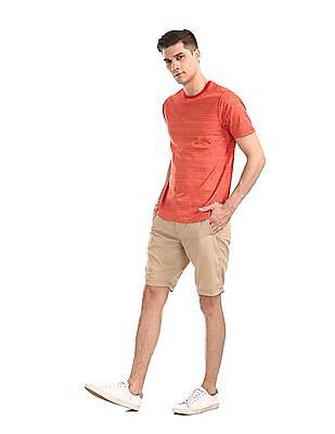 Cherokee Red Short Sleeve Striped T-Shirt