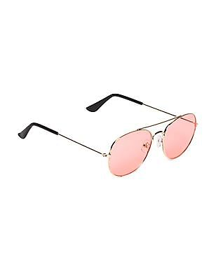 Unlimited Boys Metallic Frame Round Sunglasses