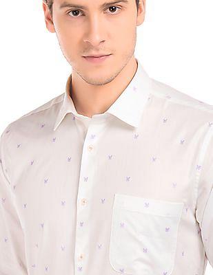 Arvind Slim Fit Jacquard Shirt