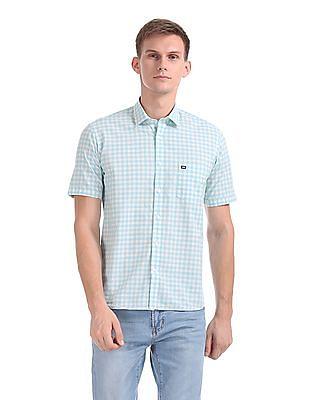 Arrow Sports Short Sleeve Gingham Shirt