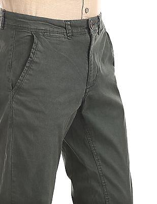 Cherokee Green Slim Fit Printed Trousers