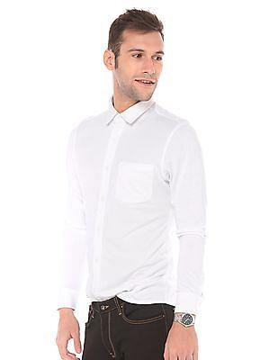 Arrow Newyork Super Slim Fit Pique Shirt