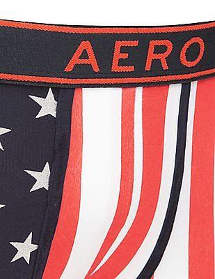 Aeropostale Striped Cotton Elastane Trunks