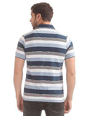 Izod Striped Slim Fit Polo Shirt