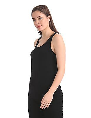 Unlimited Lace Panel Solid Tank Top