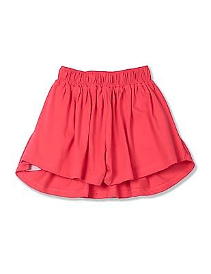 U.S. Polo Assn. Kids Girls Flared Knit Skort
