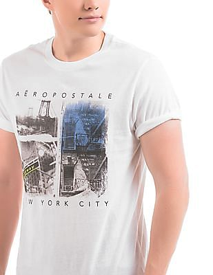 Aeropostale Printed Front T-Shirt