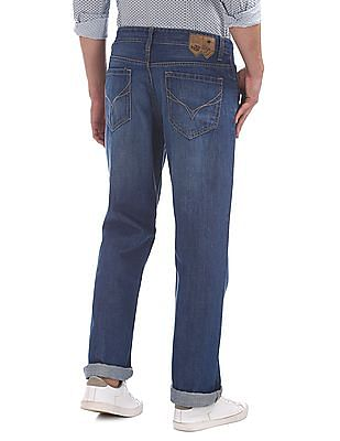Flying Machine Mid Rise Regular Straight Fit Jeans