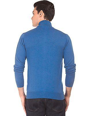 Gant Stand Neck Zip Up Sweater