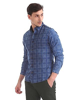 Cherokee Slim Fit Patterned Weave Shirt