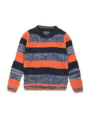 Cherokee Boys Patterned Knit Crew Neck Sweater