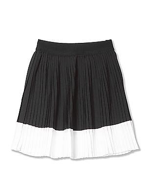U.S. Polo Assn. Kids Girls Colourblocked A-Line Skirt